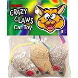 Sergeant's 49966 Pet Care Products Crazy Claws Mice Catnip Toy 3 CT (Pack of 8)