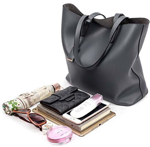 Bag Inside Handbag Hobo Bag Removable Covelin Black Women's Tote Shoulder wSq0PA