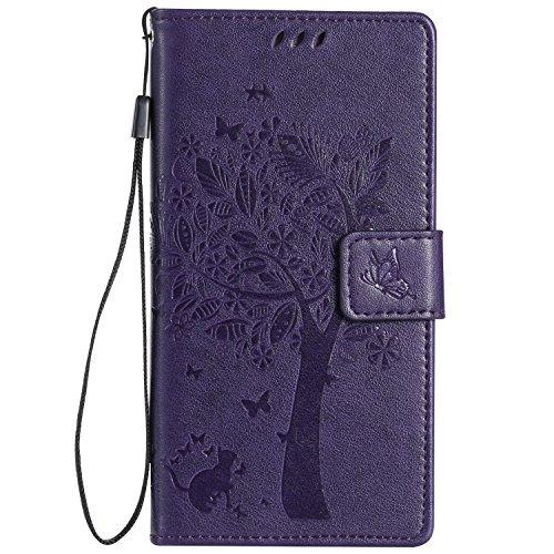 Huawei P8 Lite Case,Huawei P8 Lite Wallet Case,MT Mall(TM)[Hand Strap]Premium PU Leather Slim Fit Case Magnetic Hybrid Flip Folio TPU Soft Bumper Wallet Purse Case[Built in Credit Card Slots] - Mall Mt