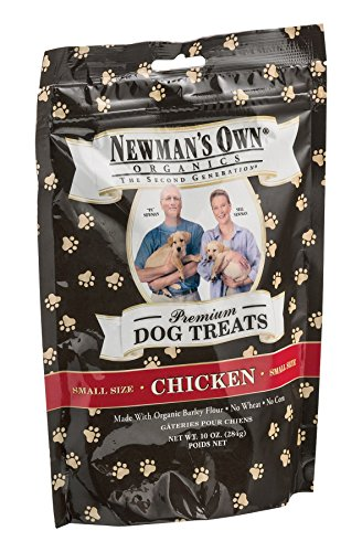 Newmans Own Organic Dog Treats, Premium, Chicken, Small Size, 10 Oz, Pack Of 6