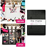 The Matte Make Up Organizer Space Saver turns Bathroom Sink into a Beauty Counter in an Instant-Essential for anyone who has limited bathroom space and is a must have for travel (Standard, Black)