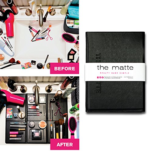 - The Matte Make Up Organizer Space Saver turns Bathroom Sink into a Beauty Counter in an Instant-Essential for anyone who has limited bathroom space and is a must have for travel (Standard, Black)