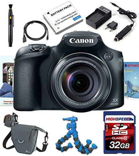 Canon PowerShot SX-60 Digital Camera w/ Deluxe Accesory Kit 32GB