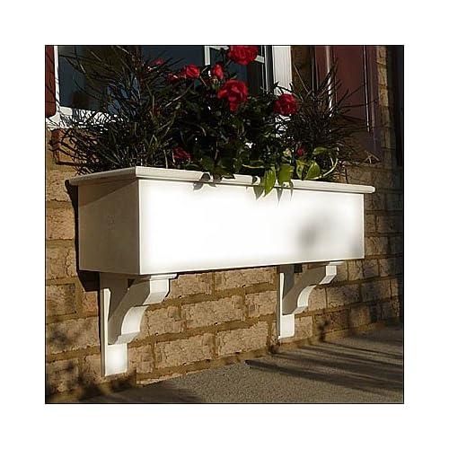 "72"" Cunningham PVC Window Boxes - No Rot w/ 3 Free Brackets"