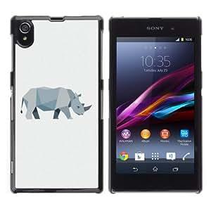 iKiki-Tech Estuche rígido para Sony Xperia Z1 L39H - Cool Polygon Animal