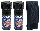 Pepper Enforcement Splatter Stream Police Grade 10% OC Pepper Spray – Max Strength Law Enforcement Formula – Flip Top Canister – 4 Year Shelf Life (2-PACK w/Belt Loop Holster) Review