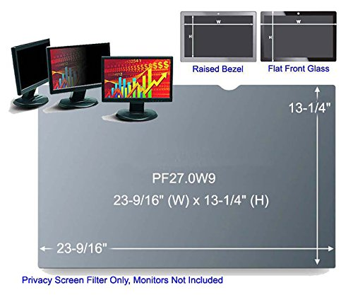 3M PF27.0W9 Black Frameless Privacy Filter for Desktop 27'' Widescreen Monitor (16:9) (161387A)