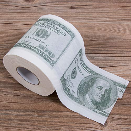 Best Quality - Cleaning Cloths - Hot Donald Trump Dollar Creative Bill Toilet Paper Roll Novelty Gag Gift Dump Trump Roll of Paper Toilet Bathroom Wood Pulp - by LA ()