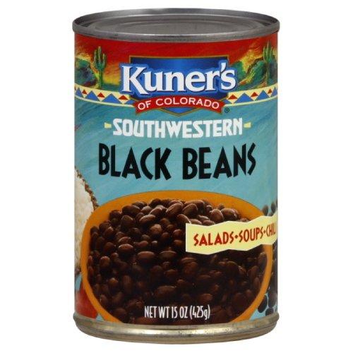 Kuner's Black Beans, 15-ounces (Pack of12) ()