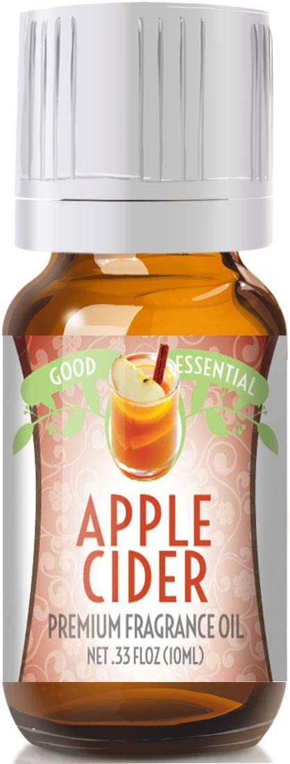 Apple Cider Scented Oil by Good Essential (Premium Grade Fragrance Oil) - Perfect for Aromatherapy, Soaps, Candles, Slime, Lotions, and More!