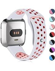 HUMENN Armband Für Fitbit Versa/Fitbit Versa Lite, Weich Silikon Ersatzarmband Smartwatch Sport Band für/Special Edition Smartwatch, Klein Groß