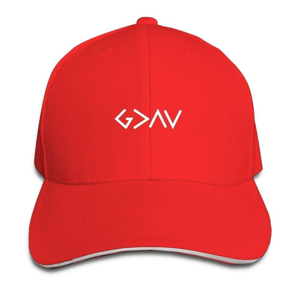 BUSEOTR God is Greater Baseball Caps Adjustable Back Strap Flat Hat