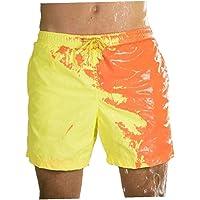 Verbazingwekkende kleur veranderende zwembroek badmode badpak slip mannen zwemmen shorts voor heren strand zwemmen…