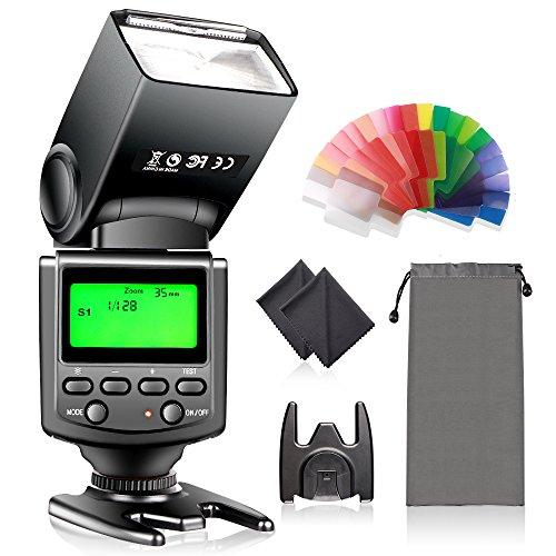 Speedlite Flash with LCD Display, FOSITAN Camera Speedlight