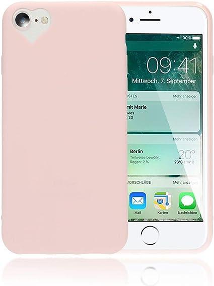 NALIA Cover Cuore compatibile con iPhone SE 2020/8 / 7 Custodia, Protettiva Morbido Silicone Copertura Sottile Gomma Gel Bumper, Ultra-Slim Case Skin ...