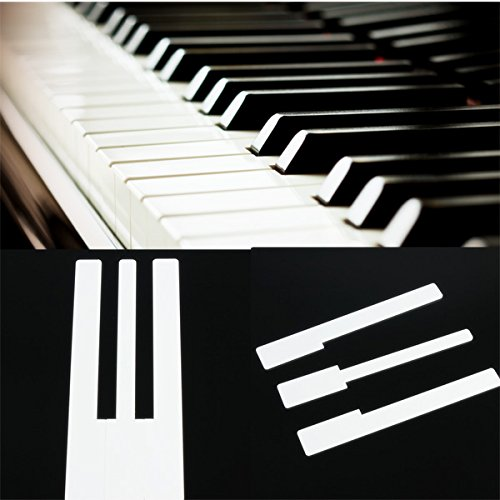 VIDOO Touches Piano - Ivoire Simulée pour Le Remplacement des Clés Accessoire Piano Haut De La Page