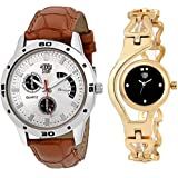 Swadesi Stuff Analogue Multicolour Dial Men's and Women's Watch - Combo of 2