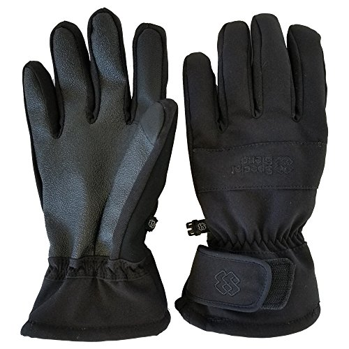 Special Blend - Winter Snow & Ski Touch Screen Gloves - For Skiing, Snowboarding, Sledding, - Ultra Waterproof, Windproof - For Men & Women (Blend Skis)