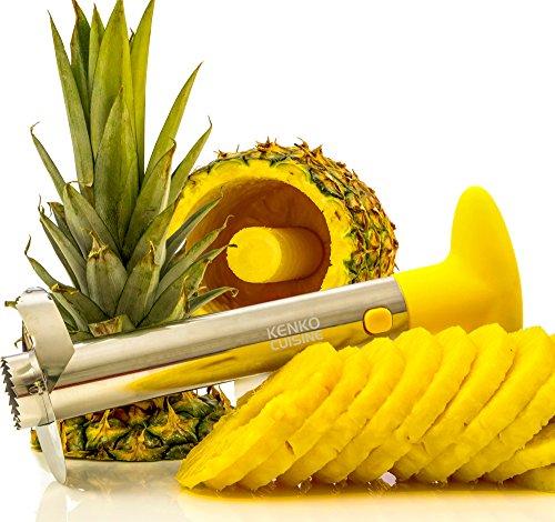 Kenko Cuisine Pineapple Corer, 3-in-1 Stainless Steel Slicer and Peeler, (Pineapple Peeler)