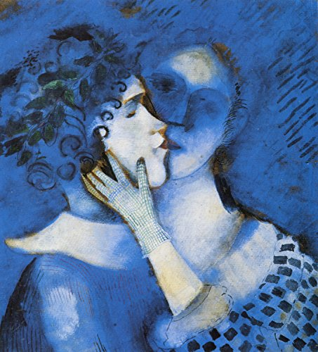 Marc Chagall - Lovers in Blue, Size 18x20 inch, Poster Art Print Wall décor