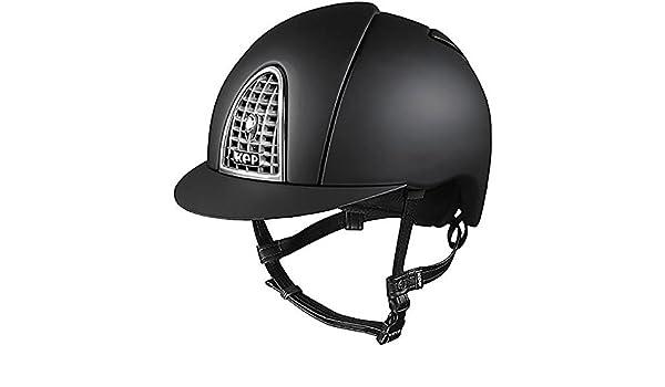 KEP Cromo - Gorro de equitación (62 cm), color negro y cromado: Amazon.es: Deportes y aire libre