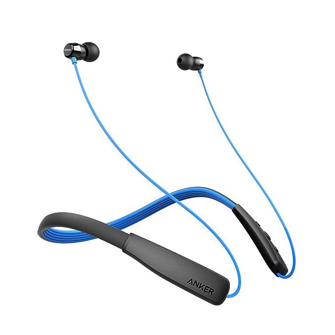Anker SoundBuds Lite Auriculares Bluetooth, con Banda para el Cuello, inalámbricos, Auriculares Deportivos IPX5 Resistentes al Agua con cancelación de Ruido ...