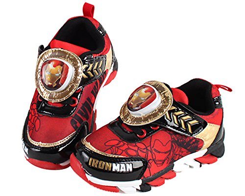 Joah Store Marvel Avengers Speed Power Boy's Light Up Sneakers Red Shoes (Parallel Import/Generic Product) (11 M US Little - Usps Speed Delivery