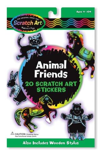 Melissa & Doug 15827 - Scratch Art-Sticker - Befreundete Tiere