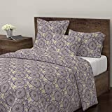 Purple and Gold Duvet Cover Roostery Henna Duvet Cover Paisley Medallion Boho Lavender Purple Gold by Crystal Walen 100% Cotton King Duvet Cover
