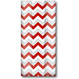 Jillson & Roberts Large Cello Bags with Twist Ties, Chevron