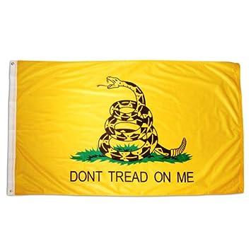 UNK Gadsden Flag 3ft x 5ft Cotton Flag Dont Tread On Me