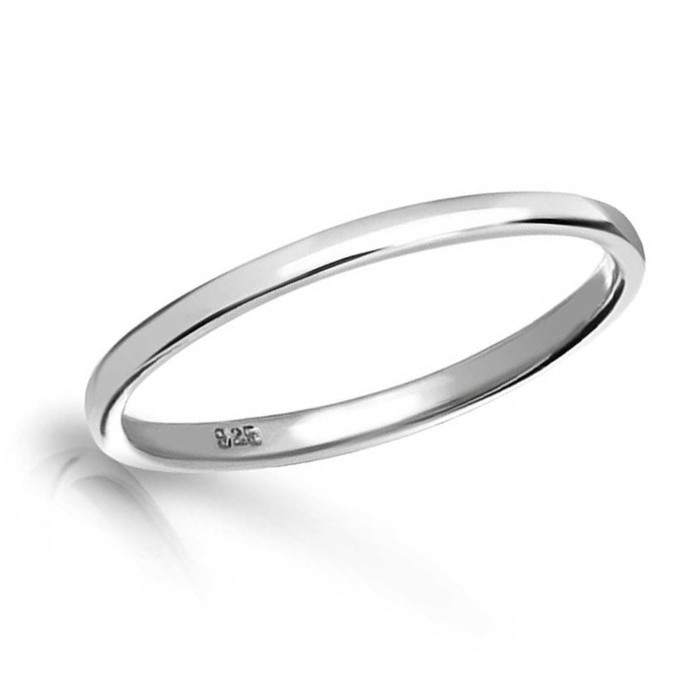 Sterling Silver Band Ring by Precious Pieces