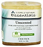 Clearly Natural Glycerine Bar Soap, Unscented, 3 Count, 4 oz each