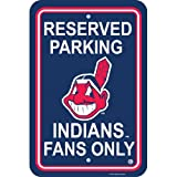 Clevelands Indians MLB Plastic Parking Sign