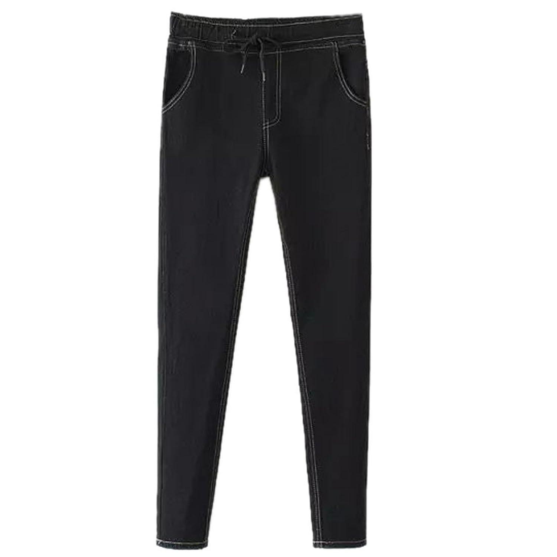 Women Skinny Black Pu Leather Leggings Pants Elastic Slim Stretch Pencil Trouser
