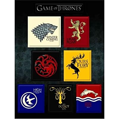 Game of Thrones: House Sigil Magnet Set: Toy: Toys & Games