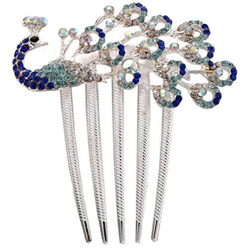 Decorative Hair Clip (SODIAL(R) Lovely Vintage Jewelry Crystal Peacock Hair Clips for hair clip Beauty Tools)