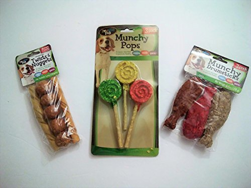 Munchy Pops, Munchy Drumsticks and Porkhide Twists and Nuggets