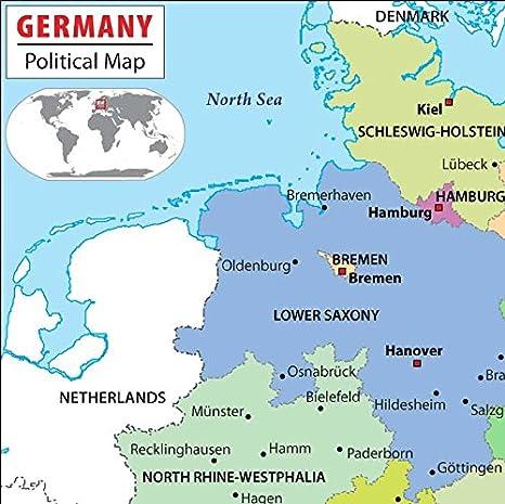 Amazon.com : Germany Political Map (36\