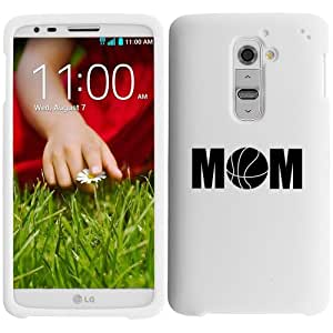 LG G2 Verizon Snap On 2 Piece Rubber Hard Case Cover Mom Basketball (White)