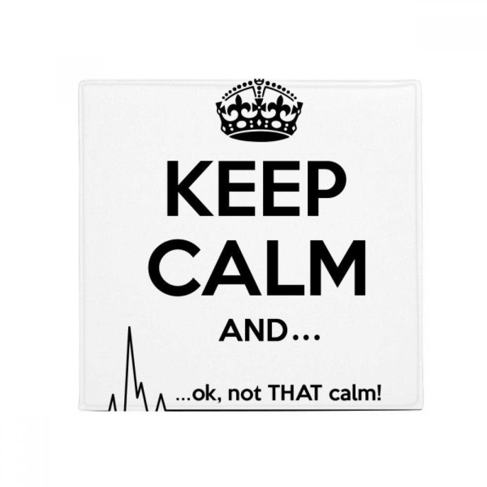 DIYthinker Quote Keep Calm Black Funny Anti-Slip Floor Pet Mat Square Home Kitchen Door 80Cm Gift