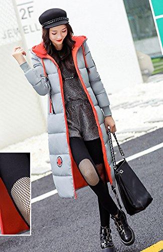 Sottile Imbottito Donne Cotone Giù In Spessore Bianchi Outwear Puffer Cappotto Comvip Ginocchio xFrqWc4wrg