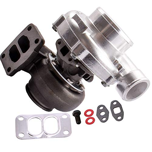 maXpeedingrods Universal T70 Turbo Turbocharger T3 Flange Oil Cooled Up 600+BHP, 0.70/0.82 A/R Oil Cooled Turbocharger for all 1.8L-3.0L Engines ()