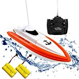 Rabing RC Boat for Pools and Lakes - HY800 Racing Boats 2.4GHz 15km/h High Speed Remote Control Boat for Kids Adults Boys Girls(Only Works in Water)