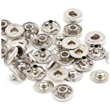 720 Sets 4 Piece 10mm Silver Snap Buttons with
