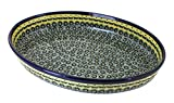 Polish Pottery Renaissance Large Oval Baker