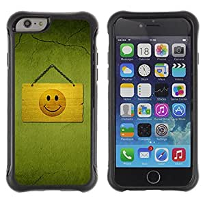 Fuerte Suave TPU GEL Caso Carcasa de Protección Funda para Apple Iphone 6 PLUS 5.5 / Business Style Hapy Smiley Area