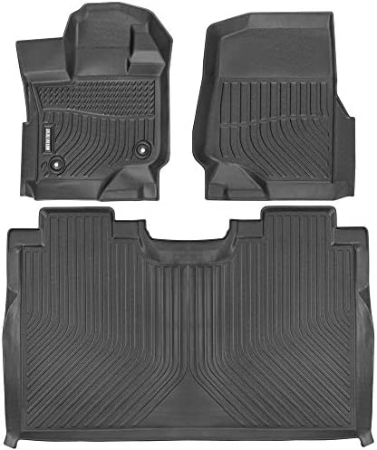 Motor Trend 3D Contour Fit Floor Mats for 2015-2020 Ford F-150 SuperCrew Cab, Front & Rear Liners, Odorless All Weather Protection