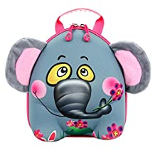 Dorapocket Children 3D Cute Animal Hard Shell Backpack Kindergarten Baby Bag,Elephant