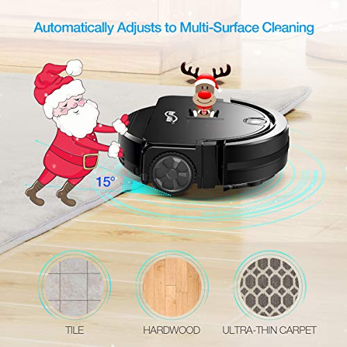 Housmile Automatic Cleaner with Super Thin Anti-Collision System, Floor Vacuum for Pet Hair Floors